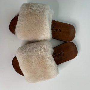 Californians Made in USA Faux Fur Slip On Mule